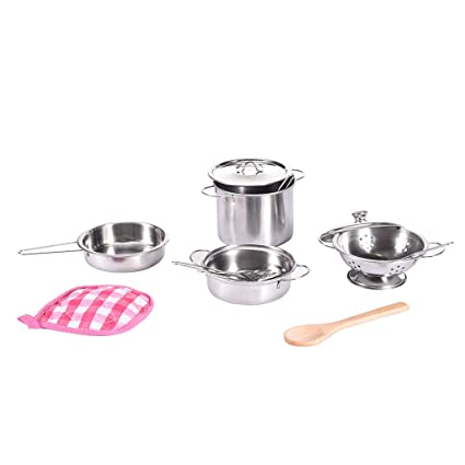 Amazon.com: Alisy Pretend Cooking Sets for Kids, Kitchen ...