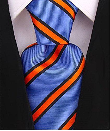 (Striped Ties for Men - Woven Necktie - Blue)