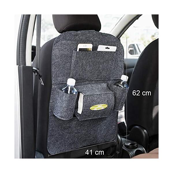 51WVW6uhQoL Autositz Organizer Leder, Autositzorganizer, Autositz Organizer, Rückenlehnenschutz Auto, Auto rückenlehnenschutz kinde…