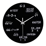 Aobiny Clock Static Mathematical Equations Institute Of Technology Digital Clock (Black)