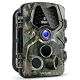 【Upgraded】Victure Trail Game Camera 1080P 12MP Wildlife Hunting Camera with 120 ° Wide Angle, 20m Night Vision Infrared, IP66 Waterproof Design, 2.4″ LCD Display for Wildlife Surveillance