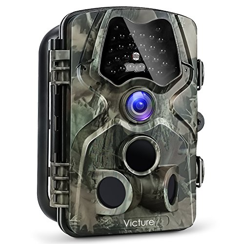 "【Upgraded】Victure Trail Game Camera 1080P 12MP Wildlife Hunting Camera with 120 ° Wide Angle, 20m Night Vision Infrared, IP66 Waterproof Design, 2.4"" LCD Display for Wildlife Surveillance"