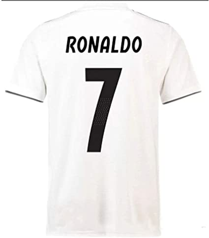 HBSC Camiseta Copa Mundial Uniforme de fútbol del Real Madrid C Ronaldo 18-19 Traje de Fitness Hombre Corriendo Traje de Pelota Deportiva Secado ...