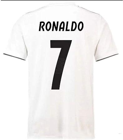 HBSC Camiseta Copa Mundial Uniforme de fútbol del Real Madrid C Ronaldo 18-19 Traje de Fitness Hombre Corriendo Traje de Pelota Deportiva Secado rápido White-XL: Amazon.es: Hogar