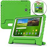 Samsung Galaxy Tab E 9.6 case for kids [SHOCK PROOF KIDS TAB E CASE] COOPER DYNAMO Kidproof Child Tab E 9.6 inch Cover for Boys, Girls | Light, Kid Friendly Handle & Stand, Screen Protector (Green)