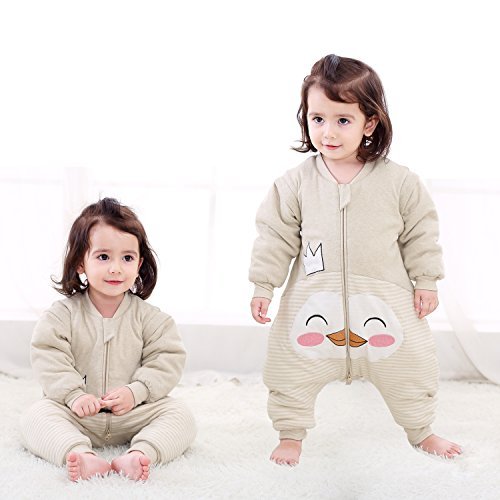 PEACE MONKEY Baby Cotton Sleep Sack Baby Wearable Blanket Sleepers For Baby Winter Pajamas Toddlers (M, Crown) ()