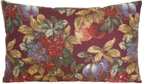 Grapes and Plums Decorative Pillow Case Ralph Lauren Material Fruits Cushion Cover Linen Printed Vintage Look Pattern - Uk Lauren Lauren By Ralph