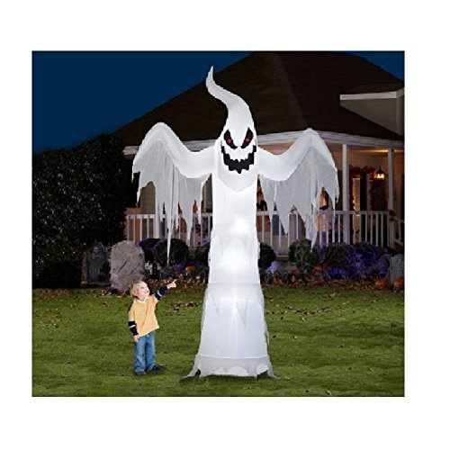 Giant Ghost Halloween Decoration Gemmy Airblown Inflatable 12' X 7.5' -