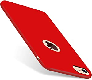 CellEver iPhone 6 / 6s Case, Liquid Guard Silicone Rubber Shockproof Case with Soft Microfiber Cloth Cushion for Apple iPhone 6 / 6S (H-Red)