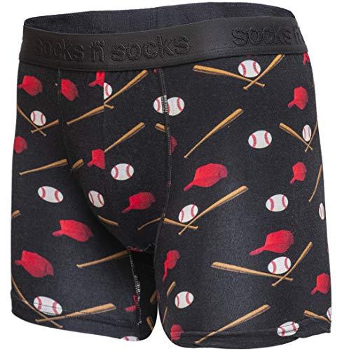 Mens Boxer Briefs-Premium Underwear for Men Baseball Briefs-Gift Box-X-Large