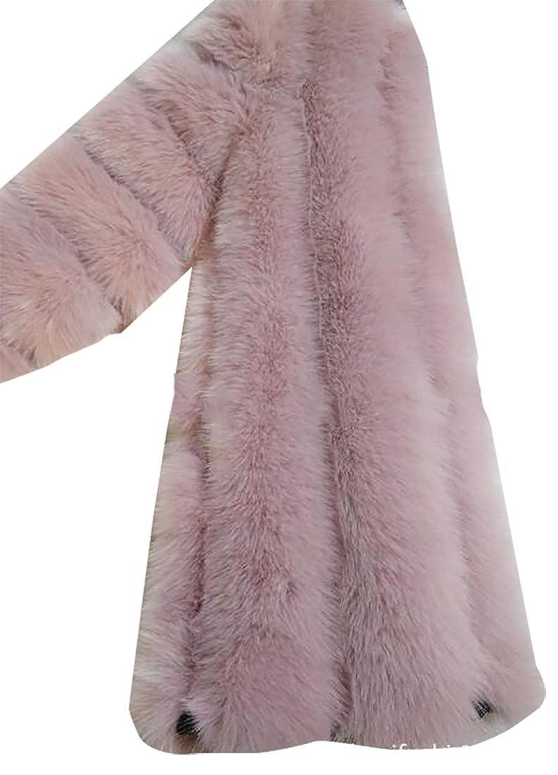 5 jxfd Women Warm Winter Long Sleeve Front Open Short Faux Fur Cardigan Jacket