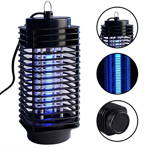 Indoor Electric Bug Zapper - Plug in Mosquito Killer - Insect, Fruit, Fly, Catcher LED Trap Light Bulb - Eliminates Most Flying Pests for Home, Residential, Commercial, Industrial (2019 Update)