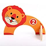 Creative Funny Outdoor Toy Family Educational Toy Happy Games Cartoon Animal Croquet Toy Game Wooden Golf Toys, Perfect Birthday Gift Xmas Gift for Baby Kids Children