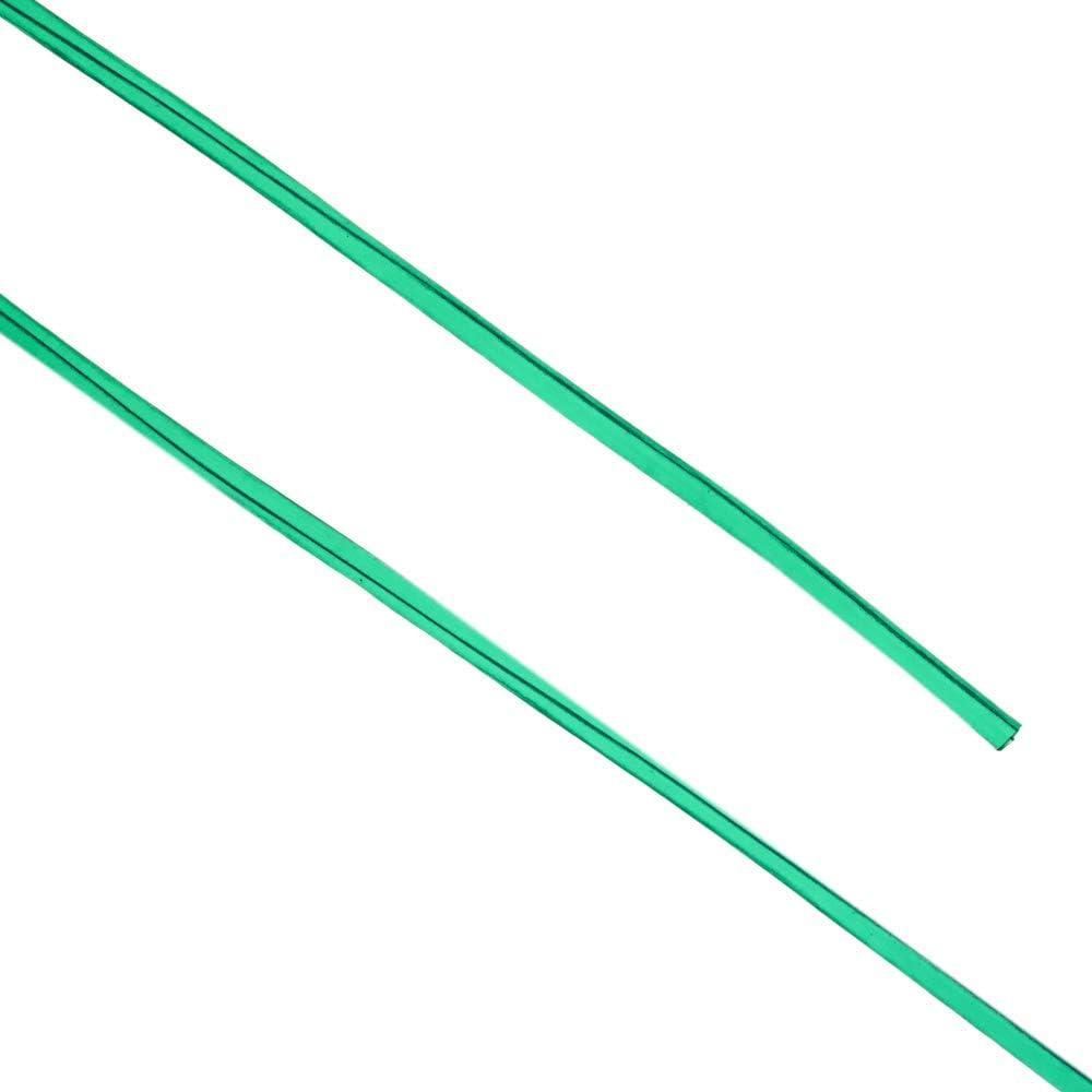 PrimeMatik W/äscheleine PVC mit Drahtkern 30 m x 3 mm gr/ün