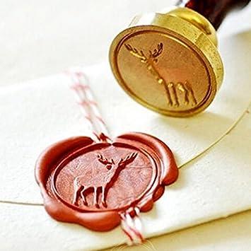 aikesi 5/St/ück Retro Versiegelung Wick mit Wachs-Siegel der Kerzen Wachs f/ür Briefumschlag Postkarte-Karten 9 x 1,1 x 1,1 cm blau