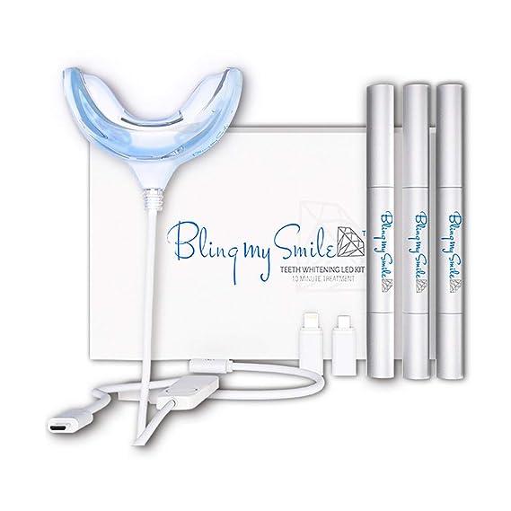 Amazon Com Bling My Smile Teeth Whitening Kit With Led Light