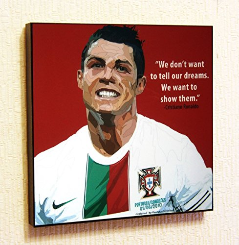 (Cristiano Ronaldo Portugal Football Soccer Poster POP ART canvas Quotes wall decals framed)