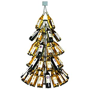 53 tall wine bottle christmas tree rack for Wine bottle christmas tree frame for sale