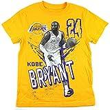 Kobe Bryant Los Angeles Lakers #24 NBA Youth Photo T-shirt Gold (Yth Medium 8)