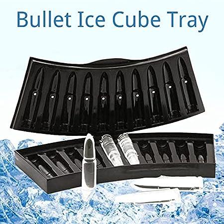 Crethink Juego de 2 bandejas de cubitos de hielo, moldes de silicona de fácil liberación, sin BPA, bandejas de hielo flexibles para congelador, whisky, cóctel, agua y otras bebidas (negro)