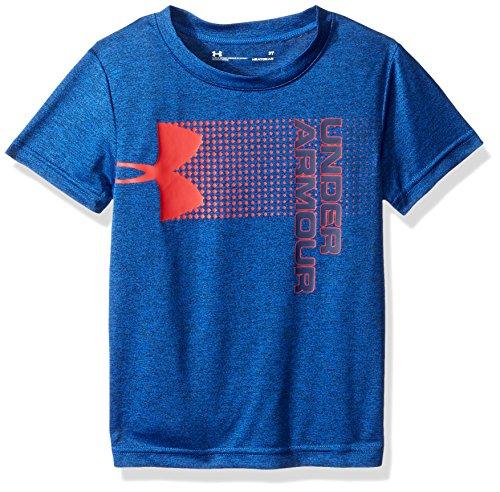 Under Armour Boys' Little New Hybrid Big Logo Short Sleeve T-Shirt, Ultra Blue, - T-shirt 5 Logo