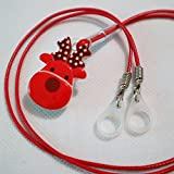 BTE Hearing AIDS Clip Safty Protection Accessory w/Replaceable Silicone Loop (Red)