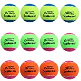 SCENEREAL Squeaky Tennis Balls Toys Dogs Pets Playing Training 2.5'' 12 Pcs/Set