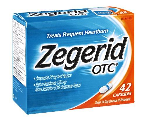 Zegerid OTC Heartburn Relief Capsules , 42 CT (Pack of 4) by zegerid pack of 4