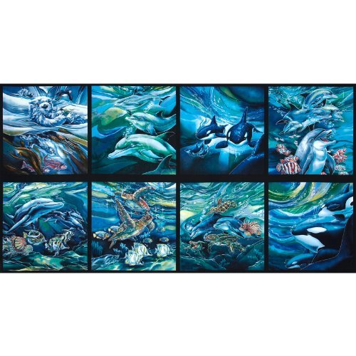 Robert Kaufman EU-372 North American Wildlife Panel Sealife Ocean