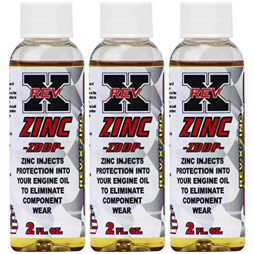 REV-X ZDDP Oil Additive - Zinc for Flat Tappet Cams & Engine Break in (3) (Best Oil For Flat Tappet Cam)