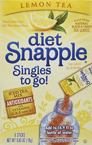 Diet Snapple Singles to Go Lemon Tea (6 Sticks in each box) 4 - Beverage Iced Single