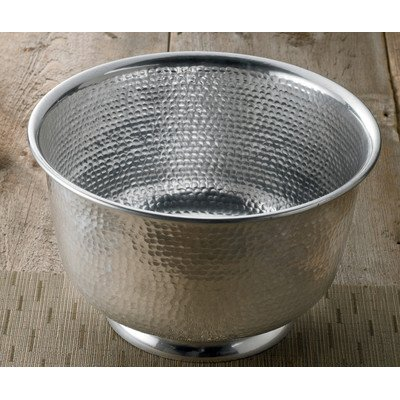 15'' Hammered Round Aluminum Punch Bowl by KINDWER by KINDWER