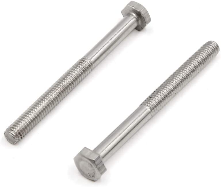 uxcell 10Pcs M6 X 65mm 304 Stainless Steel Car Motorcycle Partially Thread Hex Head Cap Screws Bolts