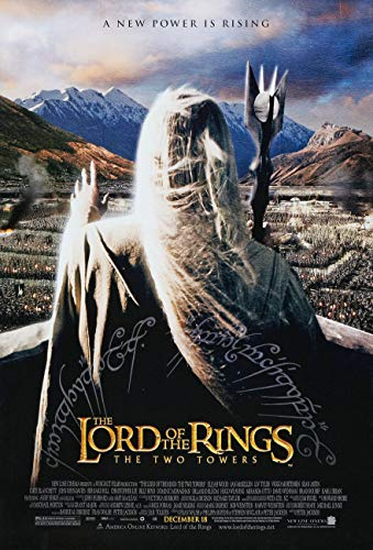 LORD OF THE RINGS THE TWO TOWERS MOVIE POSTER 2 Sided ORIGINAL INTL 27x40