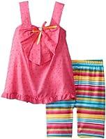Sweet Heart Rose Little Girls' Stripe Short Set