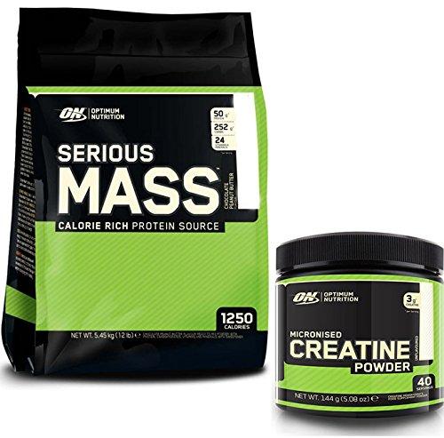 Optimum Nutrition Serious Mass Weight Gain Powder,...