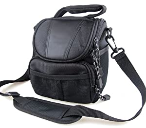 co2Crea(TM) Black Soft Nylon Digital Camera Case Bag Cover Pouch for Nikon Coolpix 1 J5 J4 V3 P900 P610 P600 P520 L830 L320 L810 L820 L830 L840 P530 S1 J3 V2 V1 J1 with Nikkor Lens Kit