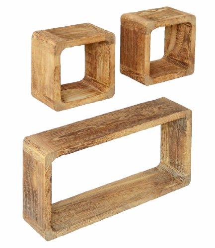 Wandregal Würfel Holz