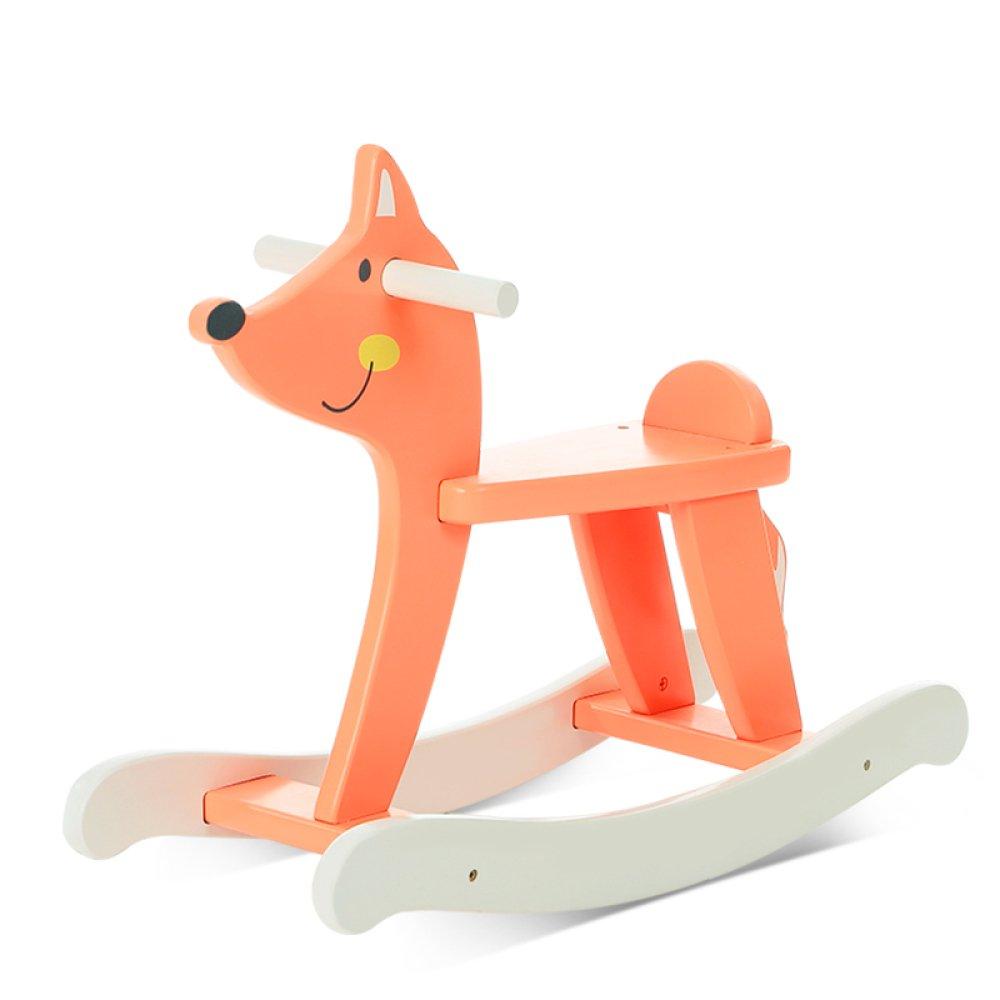ZcRFr Wooden Rocking Horse 6 – 48ヶ月の赤ちゃん男の子と女の子かわいい動物シート椅子幼児用ロッカーデザイン椅子Kid Rocker SeatソフトRocker Toy   B07D5Y95CG