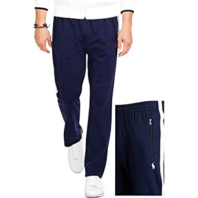 Polo Ralph Lauren\u0027s Men\u0027s Interlock Athletic Track Pants (X-Small, French  Navy /