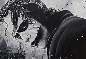 """buyartforless """"The Joker"""" By Ed Capeau Canvas Giclee Gallery Wrap Edition, 36"""" X 24"""" at Gotham City Store"""
