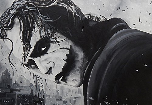 """buyartforless """"The Joker"""" By Ed Capeau Canvas Giclee Gallery Wrap Edition Home Wall Decor, 16"""" X 12"""" at Gotham City Store"""