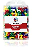 200 PCS Multi-color Officio Push Pins, 1/2 Inch Steel Point, 5 Assorted Colors, Open Top Compact Box – Great for Easy Accessibility & a Gorgeous Design to give your Office Table an Awesome Look