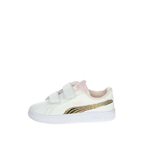 Puma Zapatilla Deporte Blanca Niña Smash V2: Amazon.es: Zapatos y complementos