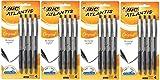 BIC Atlantis Original Retractable Ball Pen, Medium Point (1.0 mm), Black, 4-Count (Pack of 4) Total 16 Pens