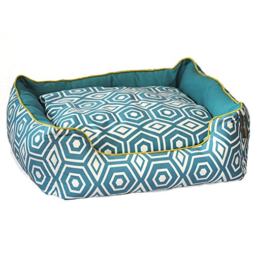ez living home P202C22TQ Honeycomb Couch Bed, Turquoise, S
