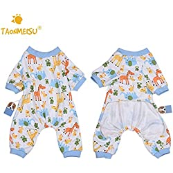 Pet Jumpsuit - Taonmeisu Cute Elephant Deer Printing Pajamas Puppy Soft Cozy Warm S Jumpsuits Romper Sleep Clothes - Pajamas Puppies Jumpsuit Dogs Jumpsuits Rompers Jumpsuit Sleep Pajama Rompe