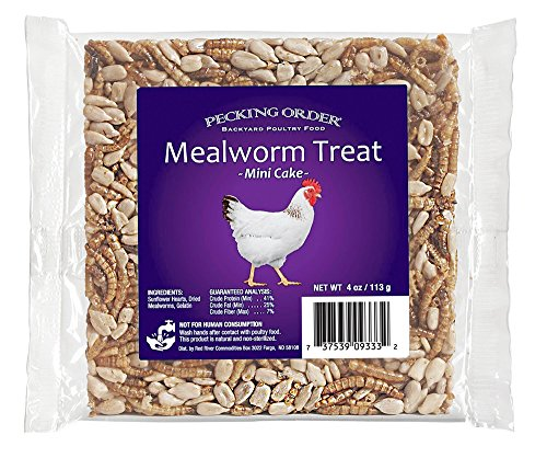 (Pecking Order Mealworm Treat Cake, 4 oz)
