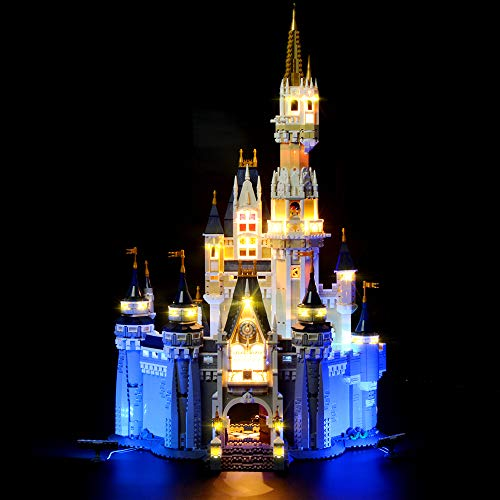 LIGHTAILING Light Set for (Disney Castle) Building Blocks Model - Led Light kit Compatible with Lego 71040(NOT Included The Model)