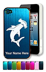 Engraved Aluminum iPhone 4/4S Case/Cover - HAMMERHEAD SHARK - Personalized for FREE (Click the CONTACT SELLER button after purchase and send a message with your case color and engraving request)